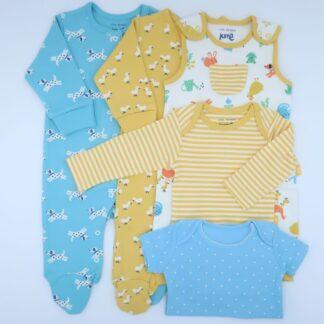 organic 5 item unisex baby bundle