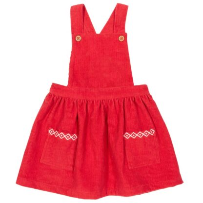 baby dress red pinafore available to rent