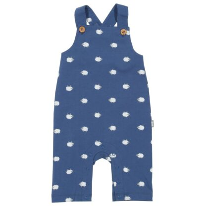 navy sheepy print baby dungarees to rent
