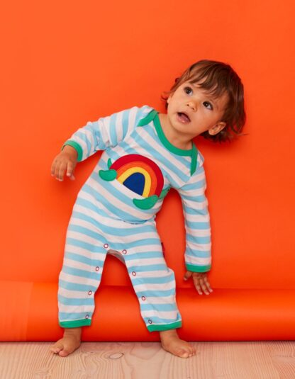 organic baby clothes rental striped turtle sleepsuit