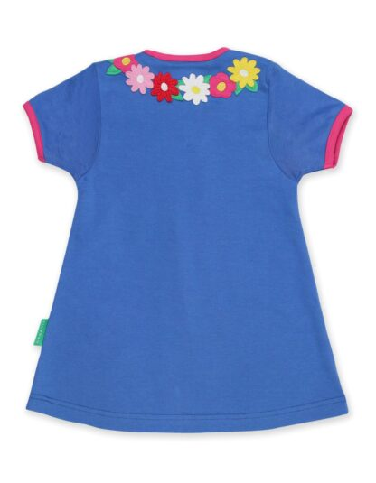 babywear rental blue dress with bunny applique at front