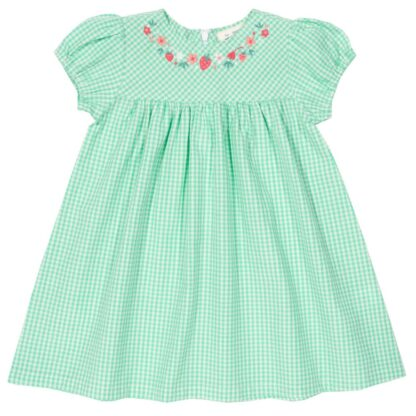 baby clothes rental gingham green dress