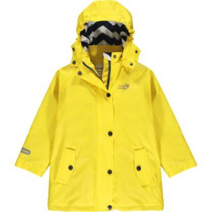 yellow puddleflex recycled baby clothing rental jacket