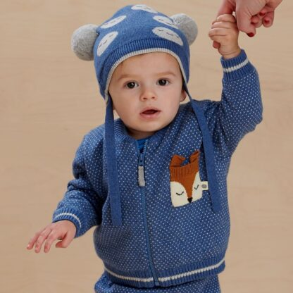 Cotton cashmere baby knitwear