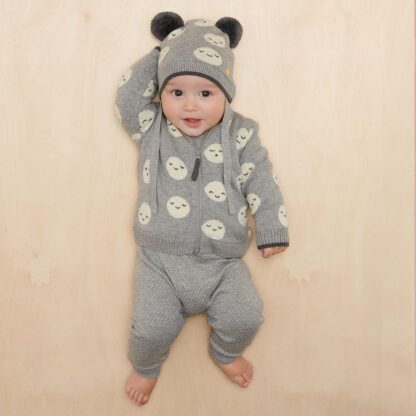 grey baby trousers