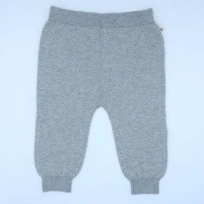 grey birdseye knit baby rental trousers
