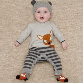 premium cashmere and cotton baby playsuit