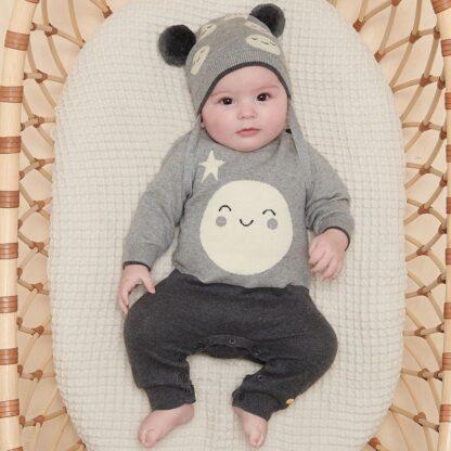 cashmere & cotton baby rental playsuit
