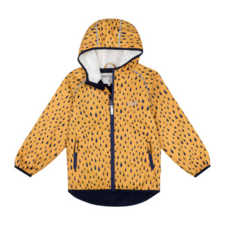 recycled baby clothing rental jacket in mustard