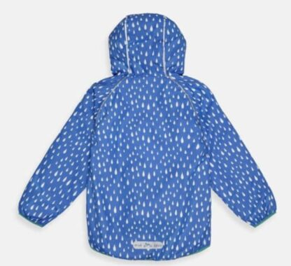 recycled baby jacket in blue