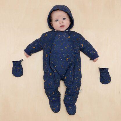 recycled baby snowsuit rental in navy