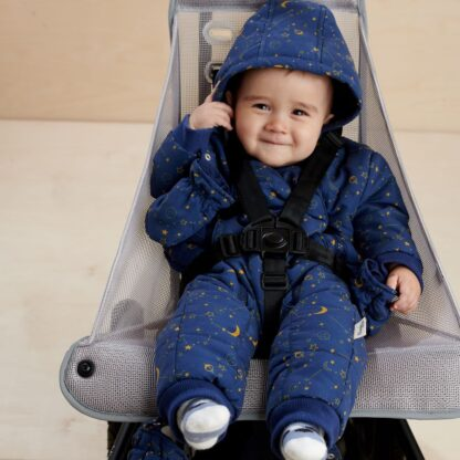recycled baby snowsuit rental with hood