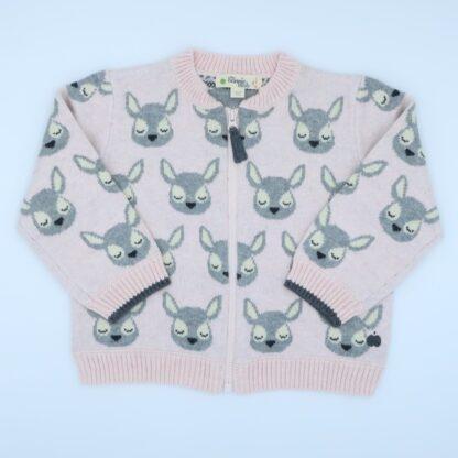 babywear rental premium zip through cardigan