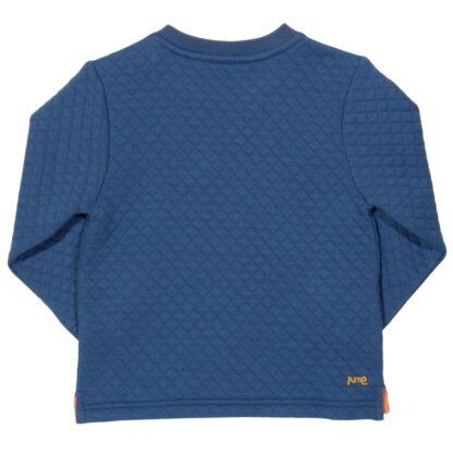 blue textured baby clothes rental sweatshirt