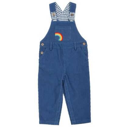 navy blue cord dungarees to rent in organic cotton