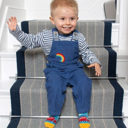 babywear dungarees with stripey top