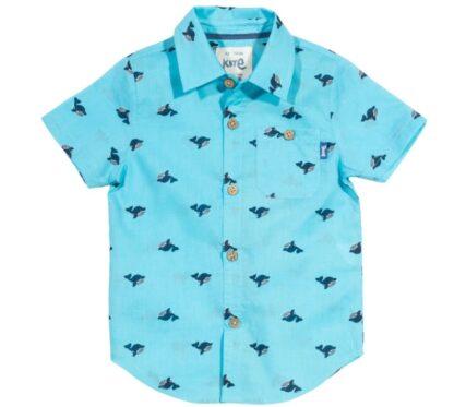 aqua blue baby clothing rental shirt