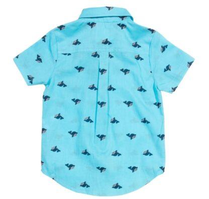 whale print babywear rental shirt