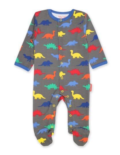 organic baby rental sleepsuit in dinosaur print