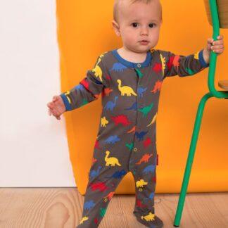 baby clothing rental dinosaur print sleepsuit