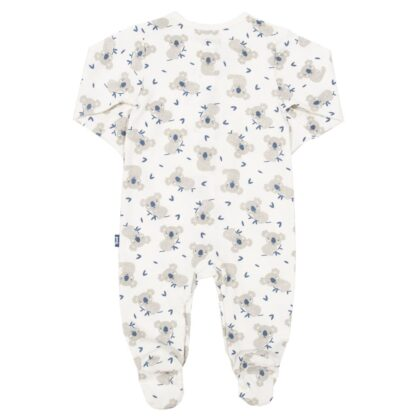 organic baby sleepsuit to rent white with little joey print