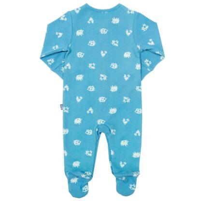babywear rental sleepsuit polka farm print