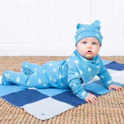 babywear rental sleepsuit in blue