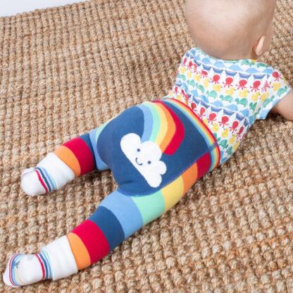 baby knit rainbow leggings