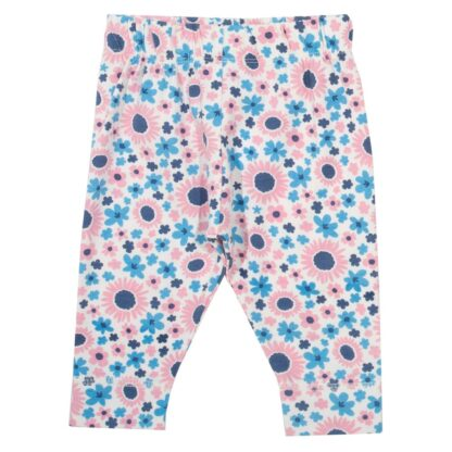 pink and blue baby floral leggings