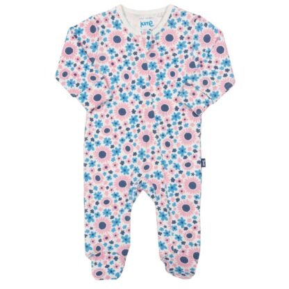 floral baby sleepsuit rental in pink and blue
