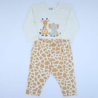 organic giraffe and elephant bodysuit and legging to rent