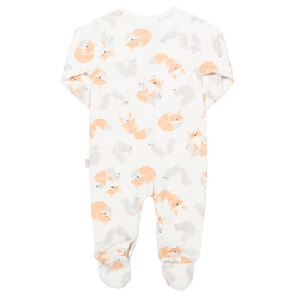 cream organic baby sleepsuit