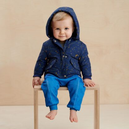 recycled cosmos baby clothing rental jacket
