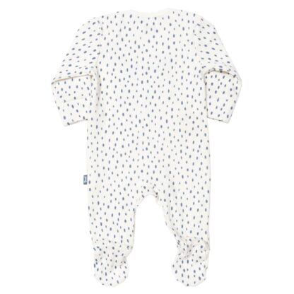 white speckled sleepsuit baby clothing rental