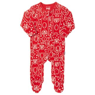 newborn sleepsuits snow bear all over print