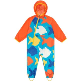 Multi coloured puddlesuit baby clothing to rent