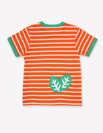 baby clothes to rent orange and white striped t-shirt