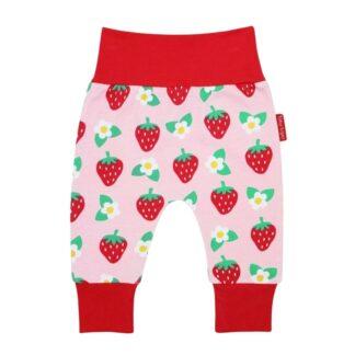 baby girl harem pants strawberry print