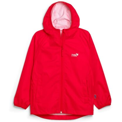recycled unlined red baby rain jacket