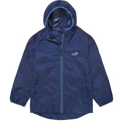 unlined navy baby rain jacket