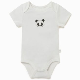 baby clothes rental panda face bamboo and organic cotton bodysuit