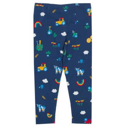 navy with multi coloured print leggings