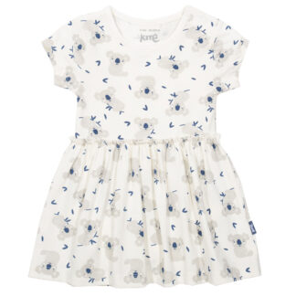 white printed baby dress
