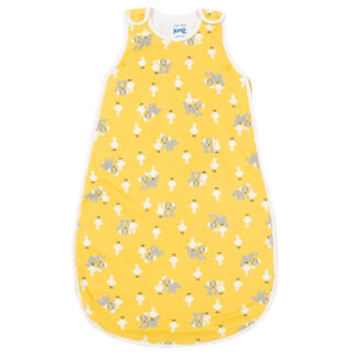 organic duck and pup print sleep bag for babies up to 6 months