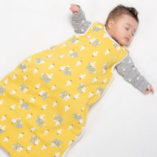 yellow organic duck and pup sleep bag