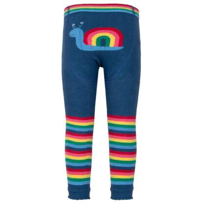 organic rainbow knit leggings