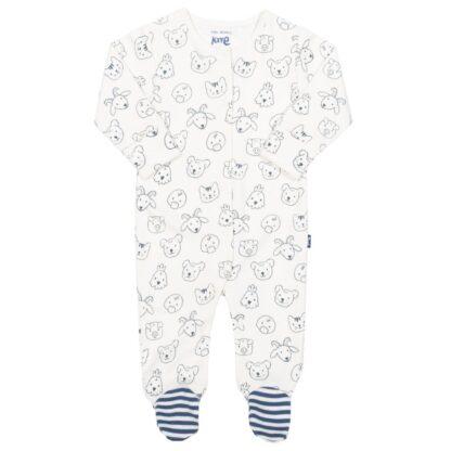 farm printed sleepsuit