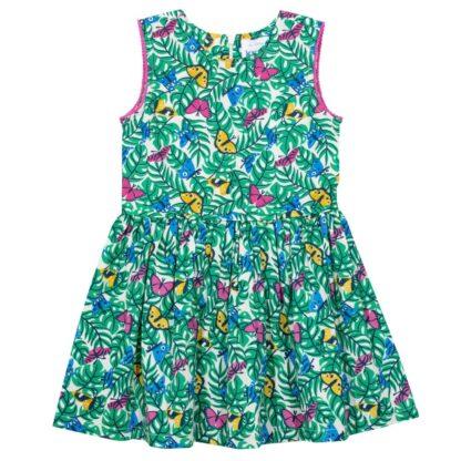 green butterfly baby dress