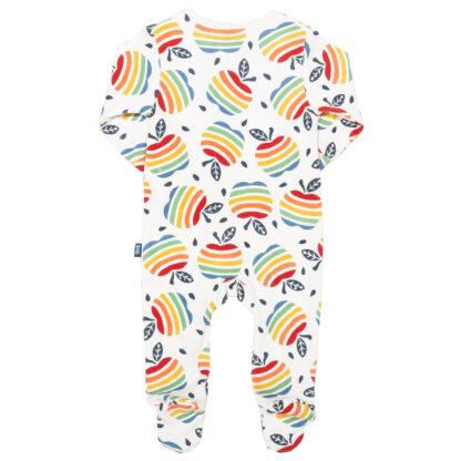 all over print rainbow apple sleepsuit
