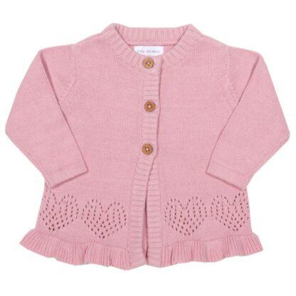 organic cotton pink baby cardigan